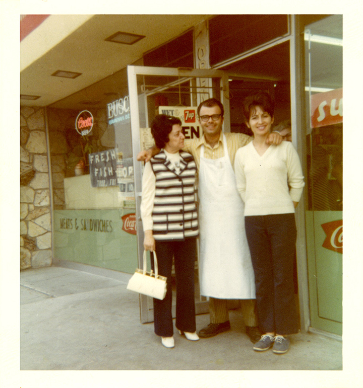 Mario and Gail are standing in front of their original location.